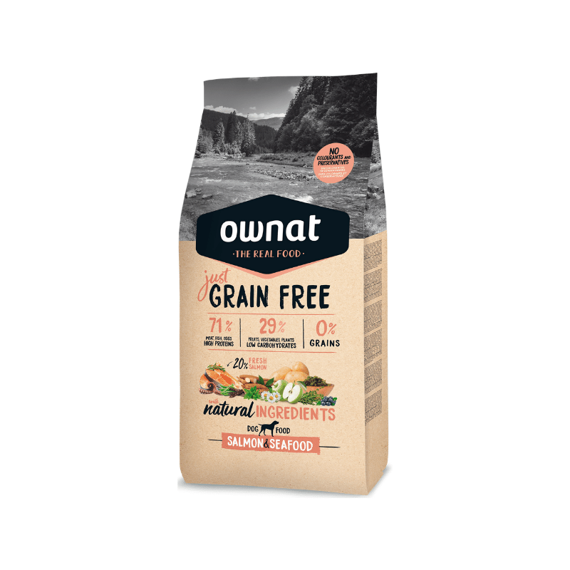 Ownat Dog Just Grain Free Salmão
