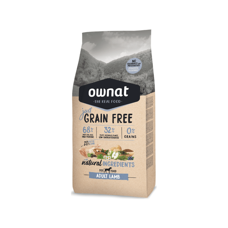 Ownat Dog Just Grain Free Cordeiro