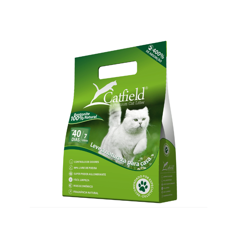 Areia Bentonite para Gato Catfield Natural