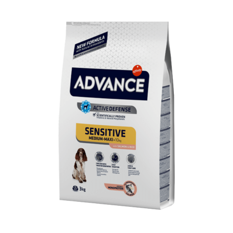 Advance Medium & Maxi Adult Sensitive Salmon & Rice