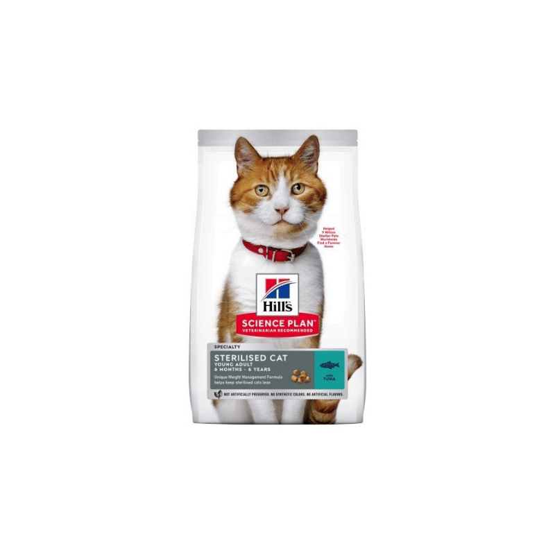 Hills Science Plan Sterilised Cat Young Adult Atum