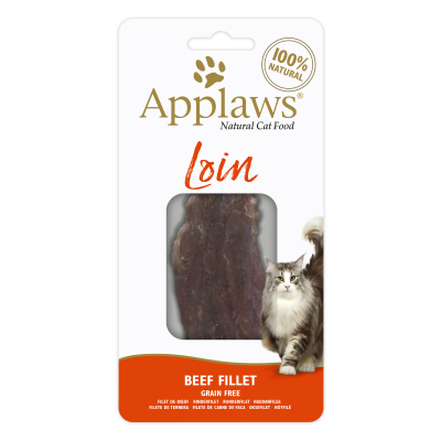 Snack para Gato Applaws Lombo Beef