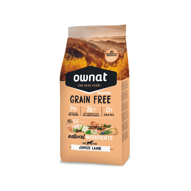 Ownat Grain Free Prime Junior Lamb